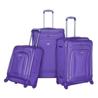 Olympia Luggage, Luxe 3-piece Expandable Spinner Luggage Set