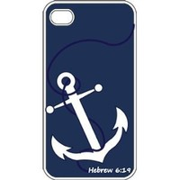 Amazon.com: Faith Anchor with Bible Verse Hebrew 6:19 Designed iPhone 4 4S Case Cover: Office Products