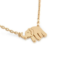 """925 Sterling Silver Rose Gold Plated Elephant Necklace 16"""""""" + 2"""""""": Size:"""