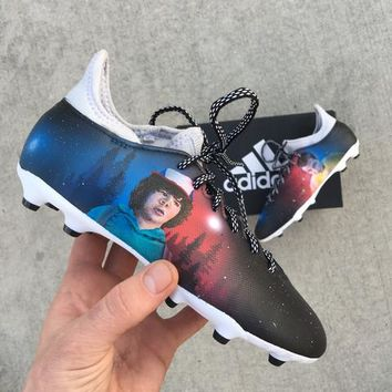Amazing Cleats From Another Dimension - Custom Hand Painted Stanger Things Inspired Adidas Soccer Cleats