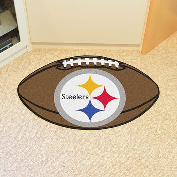 "NFL - Pittsburgh Steelers Football Rug 20.5""x32.5"""