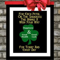 St Patricks Day - Irish Blessing Custom Art Print in 8x10, You Choose Colors and Font. Gifts Under 20. Great for Decoration or Home Decor