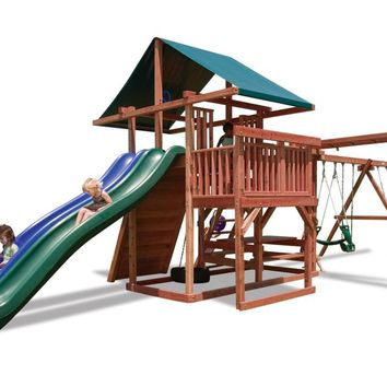 Playnation Main Attraction Wooden Swing Set