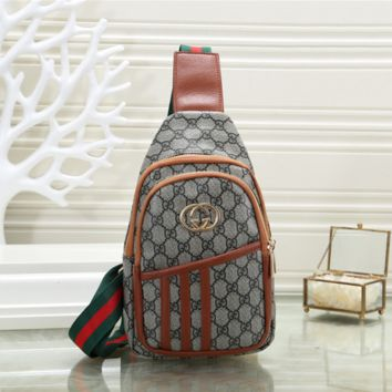 GUCCI Leather Backpack Bookbag Daypack Satchel