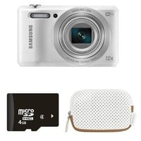 Samsung WB35F 16.2MP Smart WiFi Digital Camera with 4GB Card and Case (White)