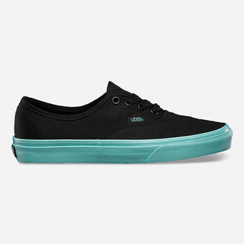 Vans Pop Outsole Authentic Womens Shoes Black/Aruba Blue  In Sizes