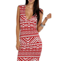 Tribal Print Midi Dress | HGD107