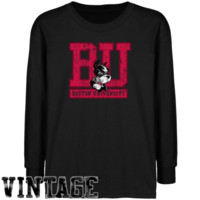 Boston University Youth Black Distressed Logo Vintage T-shirt - http://www.shareasale.com/m-pr.cfm?merchantID=7124&userID=1042934&productID=555876895 / Boston University