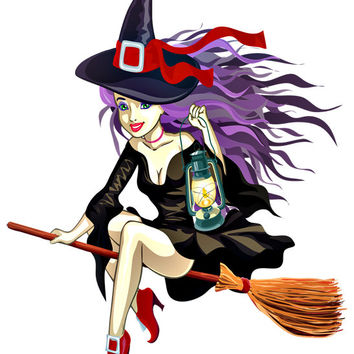 Witch Image, Halloween Witch Image, Sexy Witcht Image,Large Halloween Witch Transparent Cutout, Wall Décor, Teen Room,Teen Décor, Home Décor