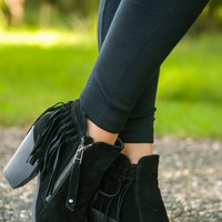 Cute From Head To Toe Booties-Black