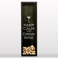 Keep Calm and Drink Wine Wine Cork Holder