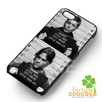 Sam and Dean Mugshot Supernatural - zzDzz for  iPhone 4/4S/5/5S/5C/6/6+s,Samsung S3/S4/S5/S6 Regular/S6 Edge,Samsung Note 3/4