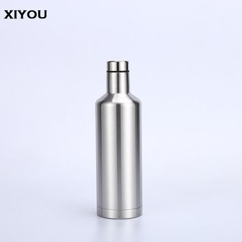 Stainless Steel Vacuum Silver Pourer Flow Water Bottle