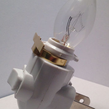 Night Light Base with Fixture Clip, Craft Supply, Make Your Own Night Light, Stained Glass Supply, Plug In Night Light Base with Clip
