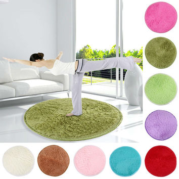Fluffy Round Foam Rug Non Slip Shower Bedroom Mat Door Floor Carpet Round Plish Rugs and Carpets mat for toilet E5M1