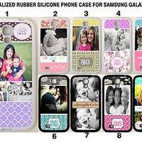 Personalised PHOTO MONOGRAM SAMSUNG GALAXY S3 S4 Custom IMAGE Rubber Case Cover