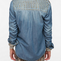 Urban Outfitters - BDG Studded Denim Button-Down Shirt