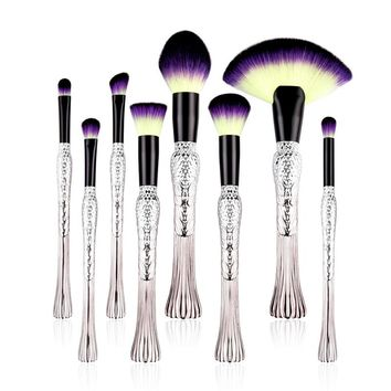 8 pcs Bird Tail Makeup Brush Set