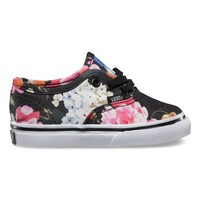 Vans Toddlers Floral Authentic (black/true white)
