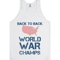 Back To Back Tank-Unisex White Tank