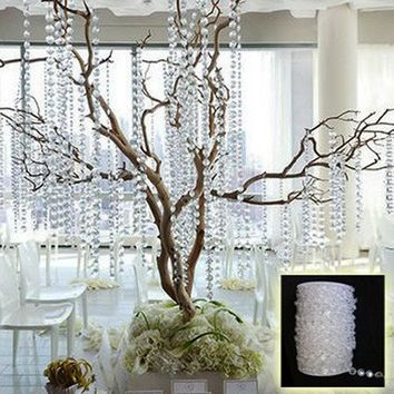 Acrylic Crystal Bead Curtain 33FT Garland Diamond Acrylic Crystal Bead Curtain Wedding Decoration DIY Party Decoration