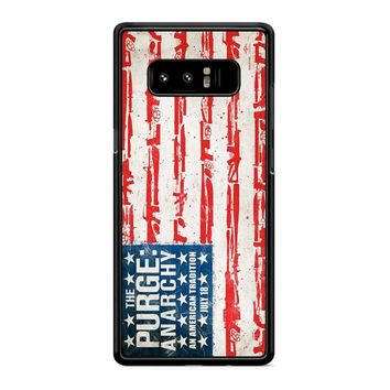 The Purge Anarchy Flag Samsung Galaxy Note 8 Case