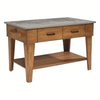 Magnolia Home Farmhouse Kitchen Island in Bench