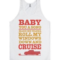 Baby You a Song-Unisex White Tank