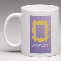 FRIENDS TV Show Door Peephole Frame Peep Hole 11oz. Coffee Mug Tea Cup Gift