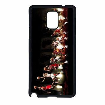CREYUG7 Michael Jordan NBA Chicago Bulls Dunk Samsung Galaxy Note 4 Case