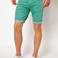 ASOS Denim Shorts In Skinny Fit at asos.com