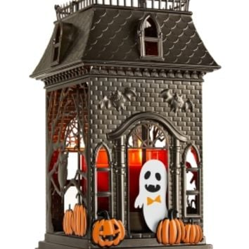 3-Wick Candle Luminary Haunted House Lantern