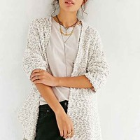 Ecote Textured Dolman Cardigan - Black & White