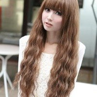 X&Y ANGEL New Fashion Medium Fluffy Healthy Curly Kanekalon Full Wig Wigs E1004A
