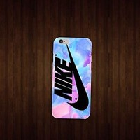 Nike Pink Pastel Brush for iphone 4 5 5c 6 6plus, samsung S4 S5 case cover