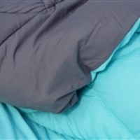 Caribbean Ocean/Granite Gray Reversible College Comforter - Twin XL