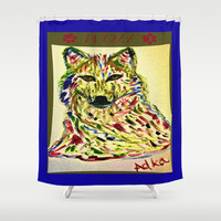 WOLF Shower Curtain by Adka