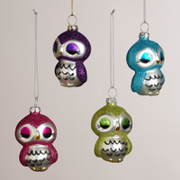 Metal Owl Ornaments, Set of 4 - World Market