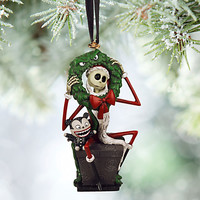 Jack Skellington and Vampire Teddy Sketchbook Ornament