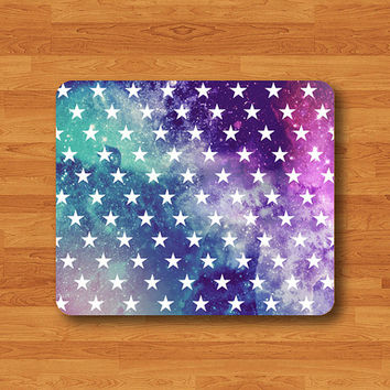Galaxy Nebula STAR HIPSTER Mouse PAD Trendy Colorful Pastel Girly MousePad Modern Art Work Computer Accessory Custom Personal Space Color