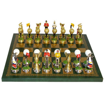 Golf Pewter Chess Set