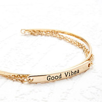 Layered Good Vibes Cuff