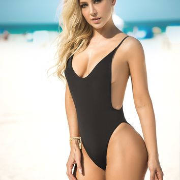 Classic Black One Piece Swimsuit