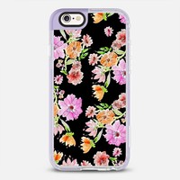 Flowers painting on black iPhone 6s case by Julia Grifol Diseñadora Modas-grafica | Casetify