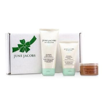June Jacobs At Home Spa Kit: Peeling Masque + Hand & Foot Therapy + Body Balm Skincare