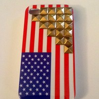 Caviar Cases — American Flag With Gold Studs