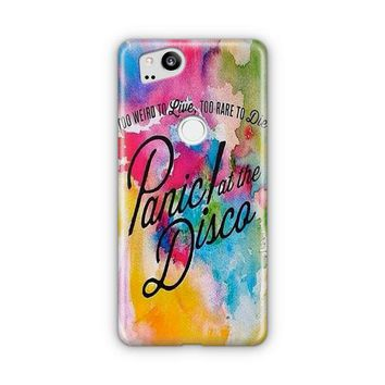 Panic At The Disco Logo Geometric Pastel Google Pixel 3 XL Case | Casefantasy