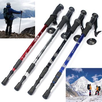 IPRee™ 3-section Adjustable Canes Walking Hiking Stick Trekking Pole Alpenstock With Compass Camping Travel