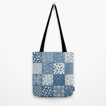Tile Patchwork Tote Bag by Eileen Paulino