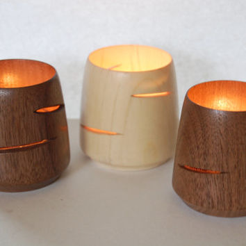 Wood Candle Holders, Modern, Luminary, Candles, Votive, Tea light lantern, Wood candle Holder, Housewares, Modern Candle Holder